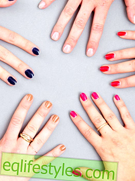 And he holds and holds in the test: make gel nail polish yourself