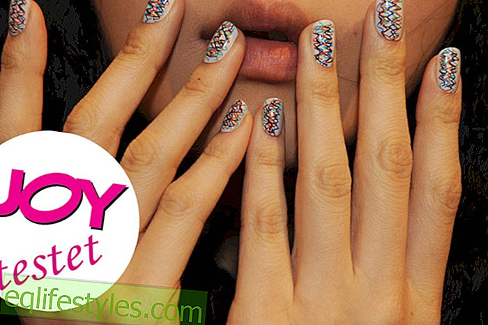 Beauty: Nail foils in the editorial test