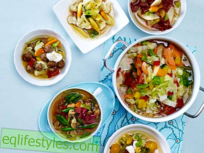 1 pound away overnight! The new cabbage soup diet: In 6 varied variants