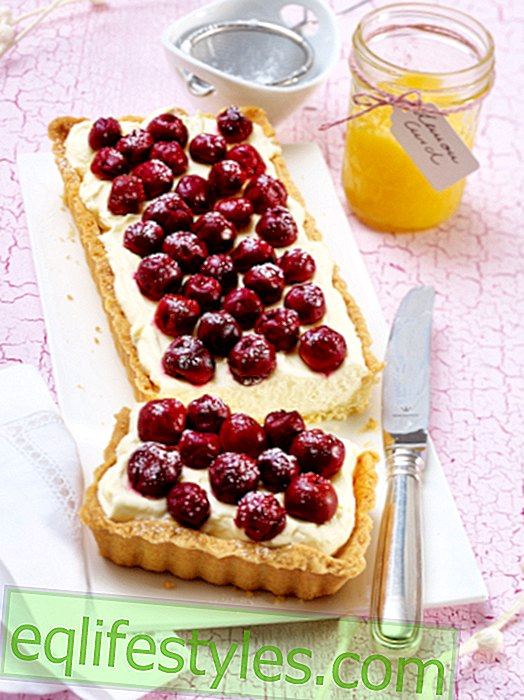 Cherry Tart: Red summer happiness with mascarpone