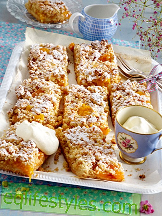 Apricot cake from the plate - with sprinkles