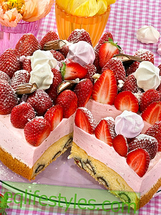 Strawberry Yogurette Pie: Fruits Dream with Chocolate