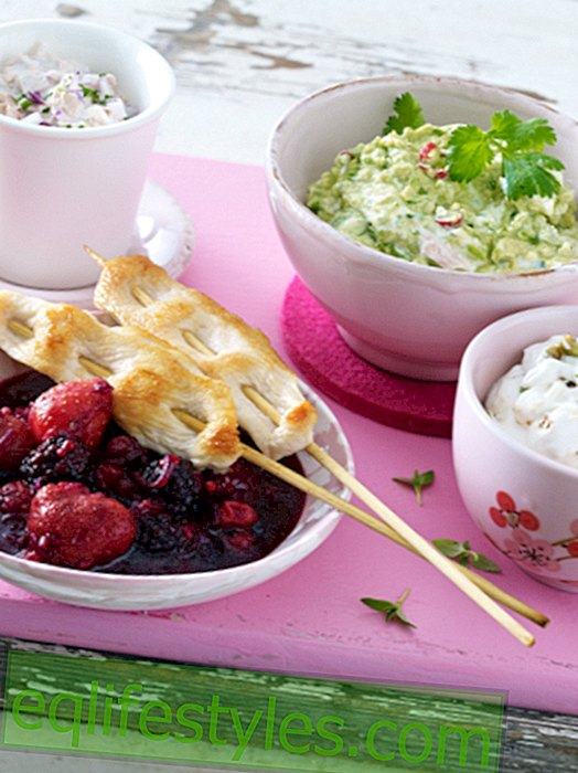 For the girls evening: Dips - four times delicious