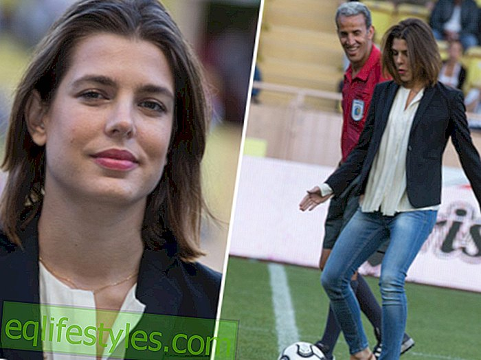 Charlotte Casiraghi makes a good figure in football