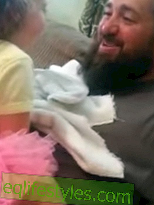 Funny Video: Girl reacts to her freshly shaven dad
