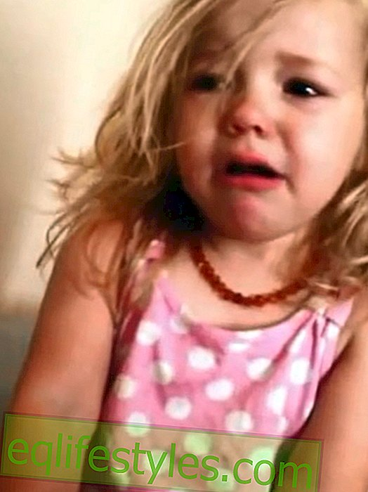 Video: Girl is crying because her nose has been stolen