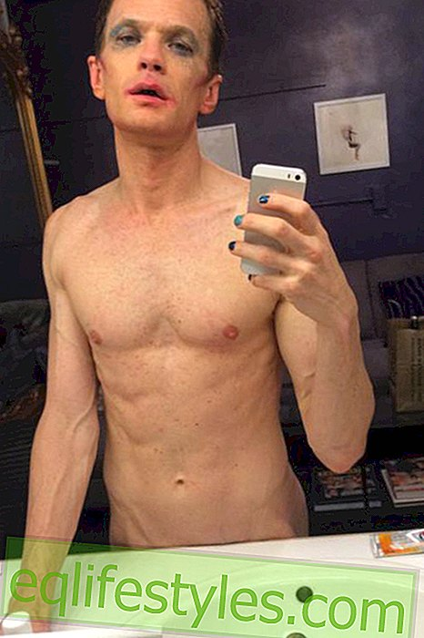 Neil Patrick Harris si mostra nuda in privato