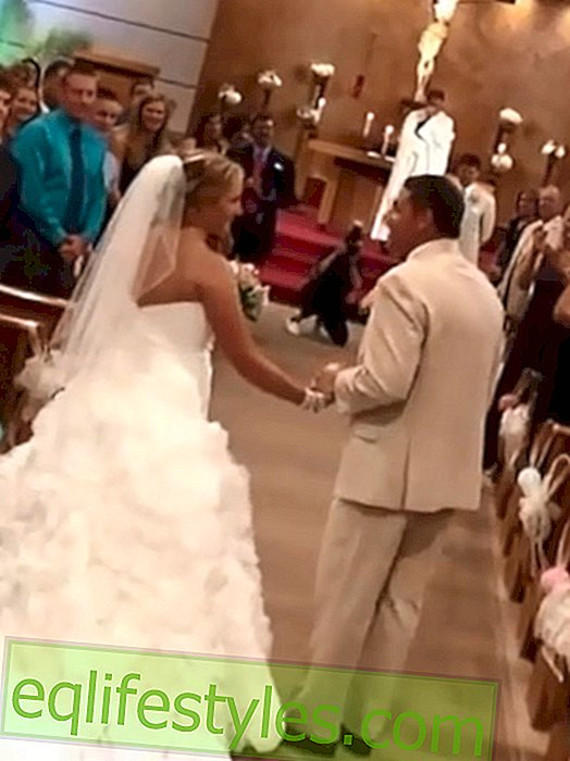 Life: Touching video: Father leads daughter singing to the altar