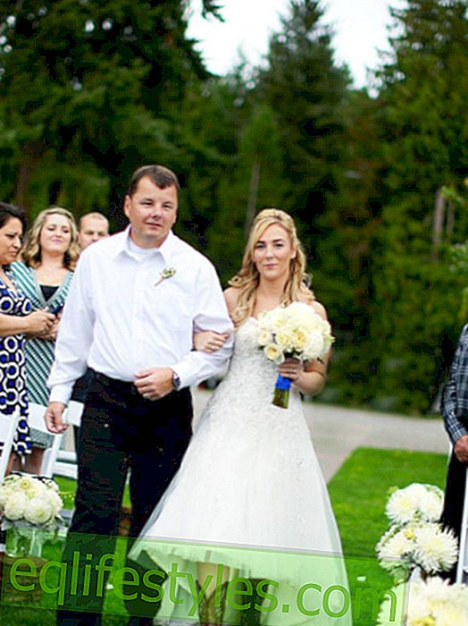After the death of her father: Bride gets a very special surprise on her wedding day
