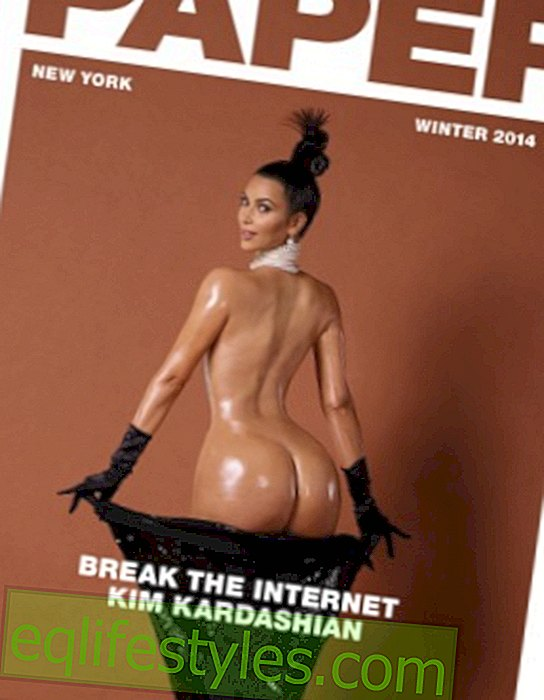 Life - Kim Kardashian with nude butt on magazine cover