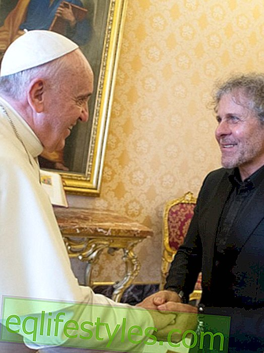 Pope Francis gets Diesel JoggJeans from Renzo Rosso