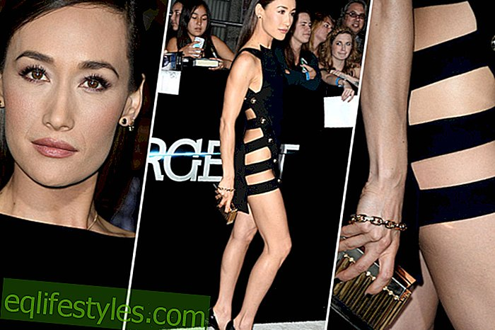 Life - Maggie Q without panties on the red carpet