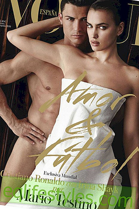 Cristiano Ronaldo: totally naked with Irina Shayk on magazine cover