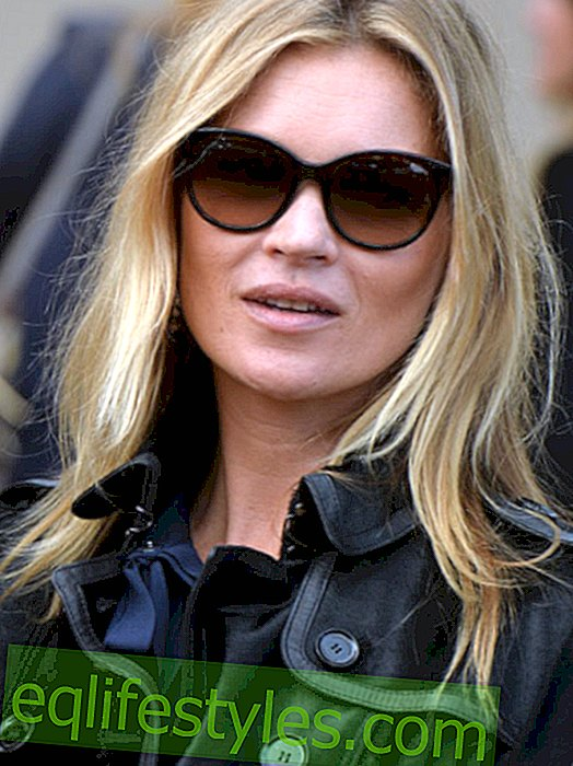 Kate Moss shows in the scary look