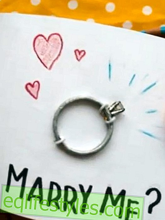 Creative marriage proposal: A ring in a flip book