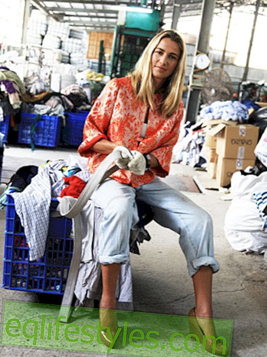 Christina Dean only wears fashion out of the trash