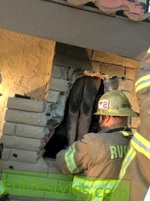 Naked woman gets stuck in the chimney of her ex-boyfriend