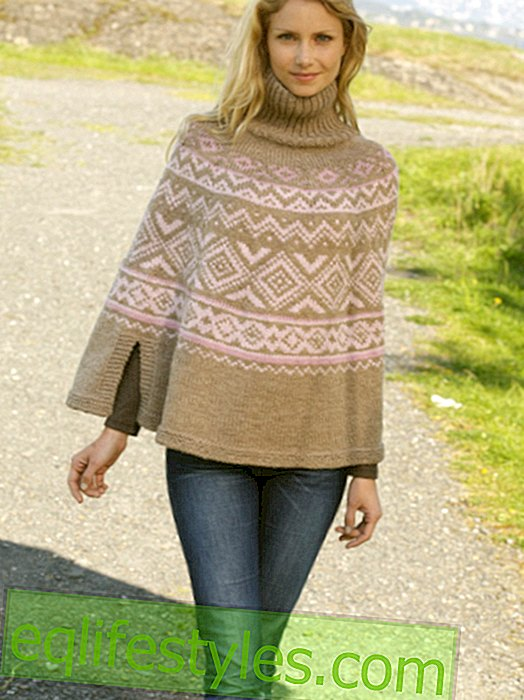 Fashion - DIY tip: Poncho with Norway pattern