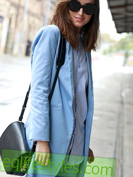 Fashion: Tender for autumn: light blue is hip!