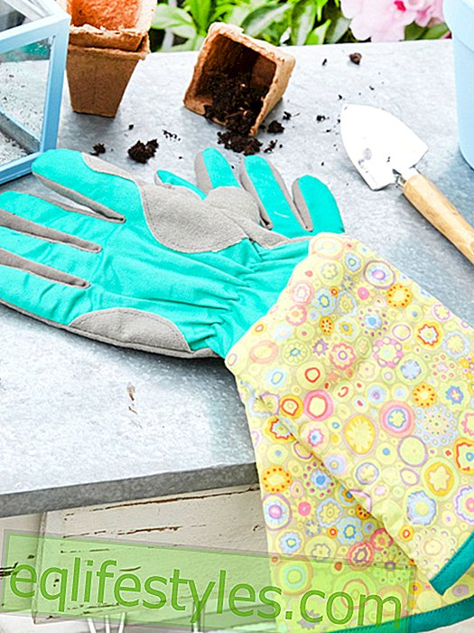 Sewing instructions for colorful gardening gloves
