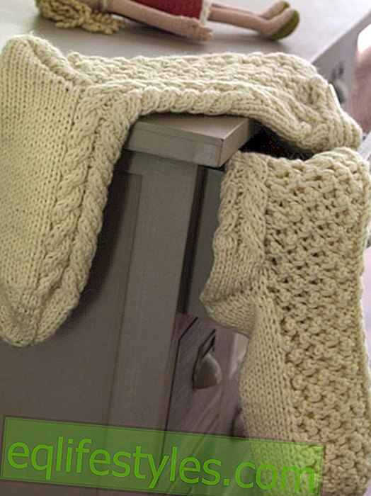 Knitting socks: Foot warmer with free instructions