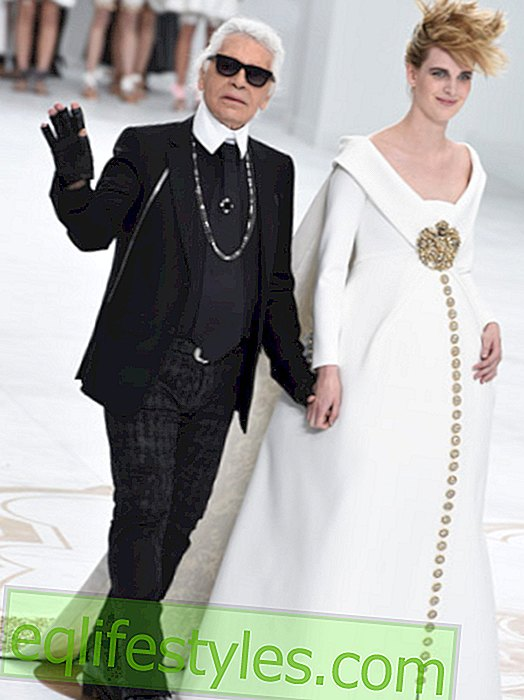 Karl Lagerfeld Designs Maternity Bride Dress for Chanel Couture