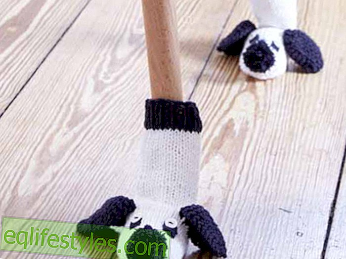 Instructions for Crochet Instructions: These cute mouse socks protect table and chair legs