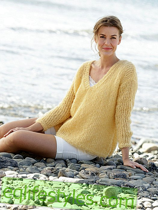 DIY: Light knit pullover with V-neck