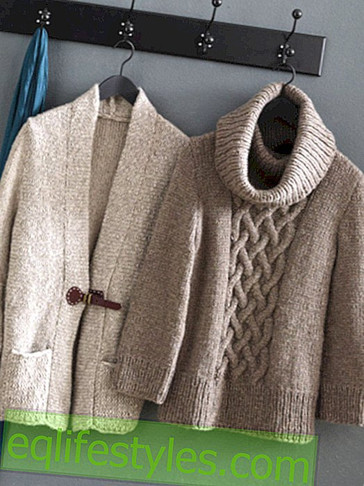 With instructions: Classic cardigan and sweater