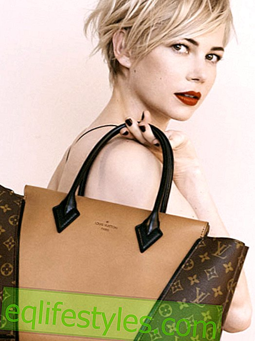 Michelle Williams modeller for Louis Vuitton