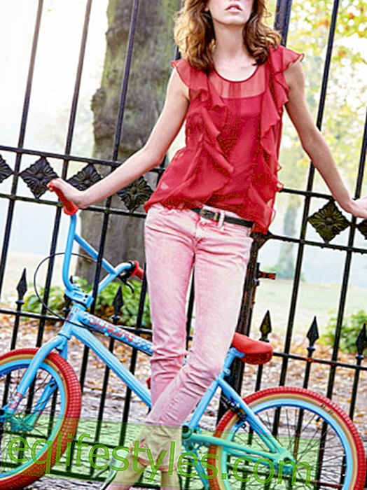Colorful jeans: In the spring we see yellow, pink, mint ...