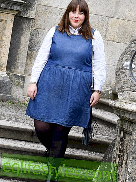 Plus-size blogger Nina shows us her casual denim look