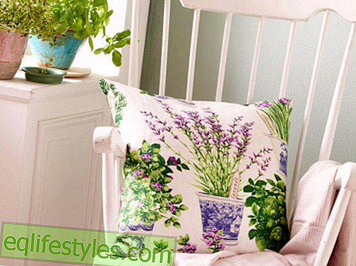 Fashion - Romantic decoration ideaEasy sewing instructions for a cushion cover with herbal motif