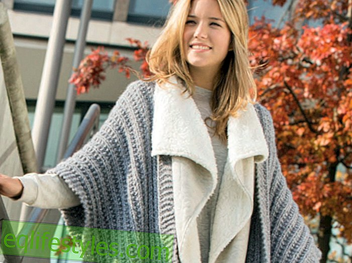 InstructionsKnitting instructions: This self-knit cape protects against cold weather