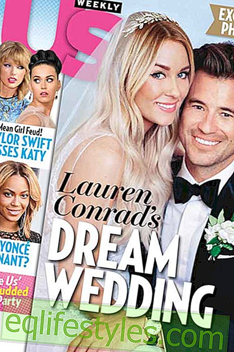 Lauren Conrad presents her wedding dress