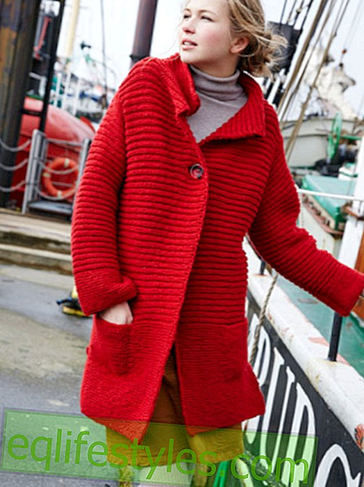 Knitting: Jacket in a sturdy ribbed knit