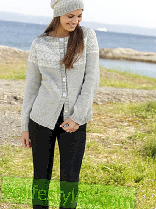 Fashion - How to knit a cardigan with matching cap