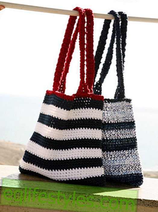 DIY knitting bagEasy knitting instructions for two bags