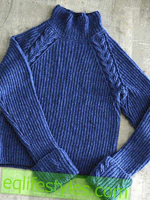 Knitting pattern for blue sweater