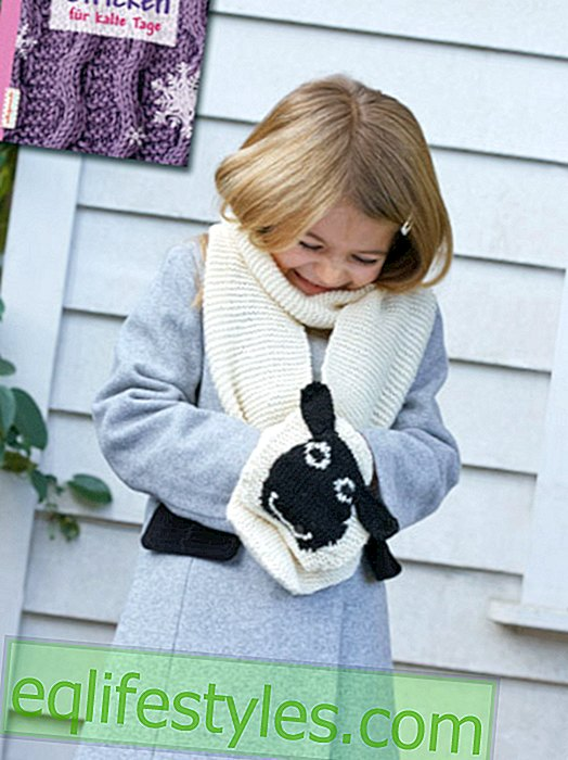 Fashion - Free Knitting Pattern for Kids Scarf