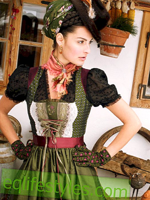 Dirndl: Beautifully dressed up for Oktoberfest 2013