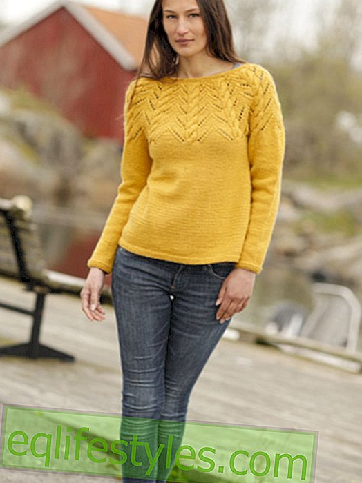Knitting pattern for sweater with ajour pattern
