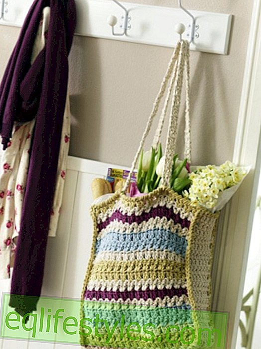 Instructions for a colorful crochet bag
