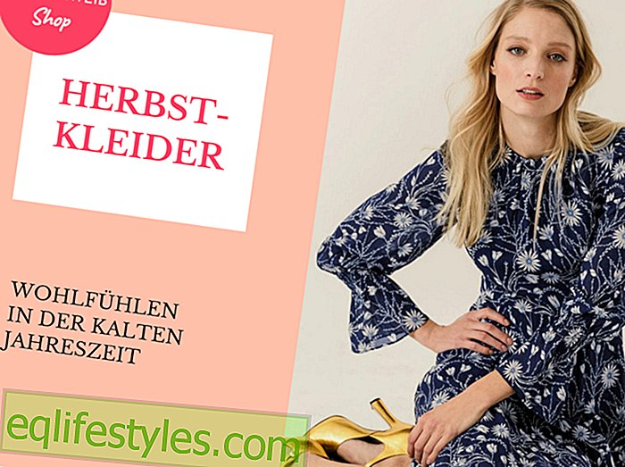 Warm and fashionableThe most beautiful dresses for autumn