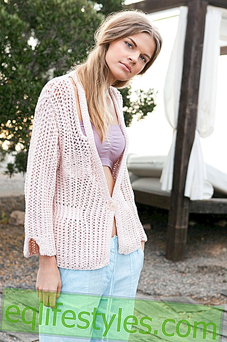 Knitting Tutorial: How to knit a cuddly cardigan