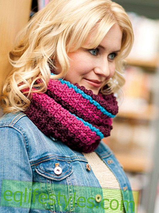 Knit loop scarf: free knitting instruction