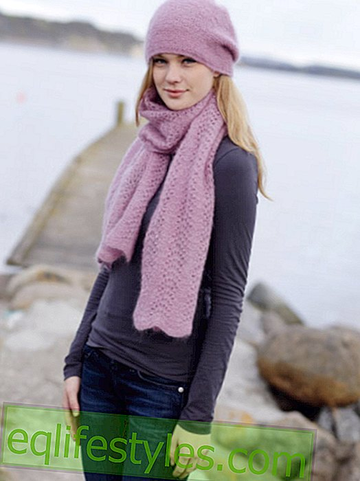 Knitting instructions for hat and scarf