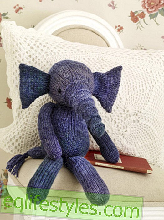 Cuddly toys: Elephant with knitting pattern