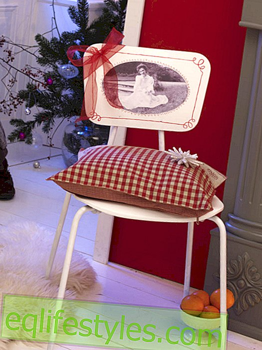 Chair backrest with photo motif