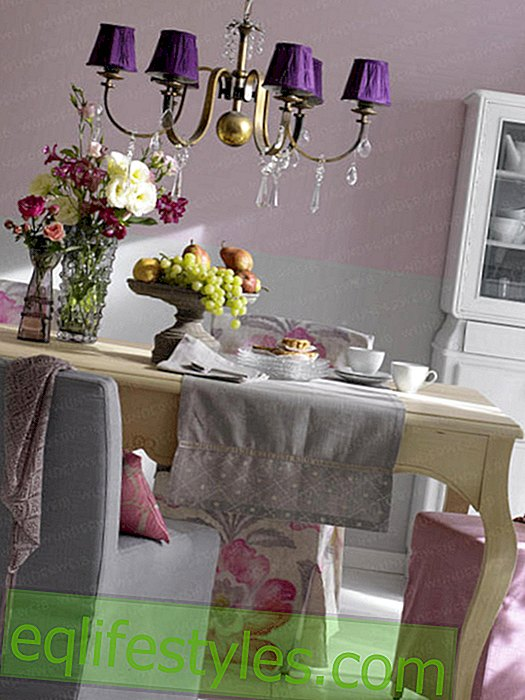 Romantic decorated dining area